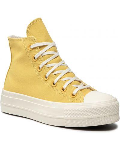 Złote trampki - żółte Converse