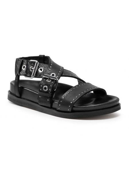 Czarne sandały na lato Allsaints