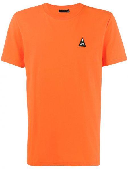 Хлопковая футболка - оранжевая J.lindeberg