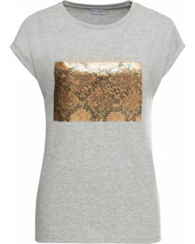 Блузка с коротким рукавом с пайетками меланж Bonprix