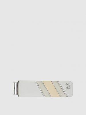 Серебряный галстук Brunello Cucinelli