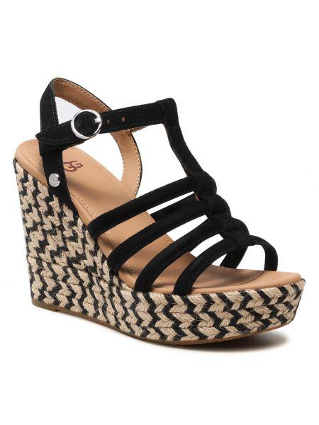 Sandały espadryle - czarne Ugg