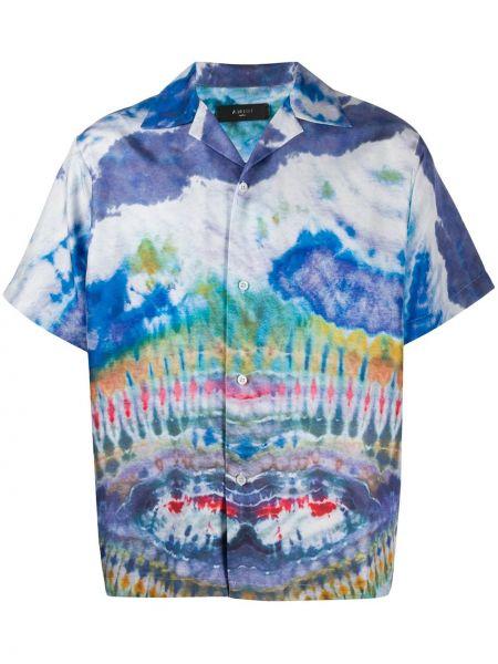 Koszula krótkie z krótkim rękawem klasyczna jedwab Amiri