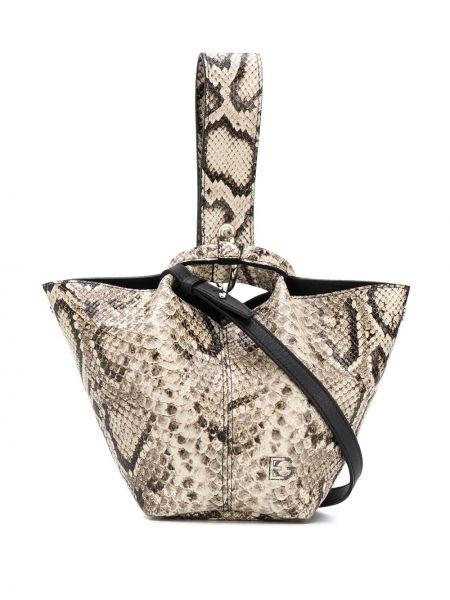 Кожаная сумка круглая Elena Ghisellini