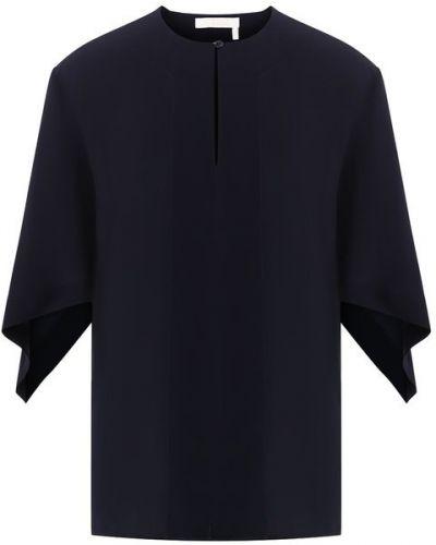 Блузка темно-синий шелковая Chloé