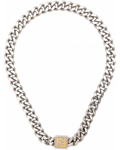 Naszyjnik srebrny Fendi