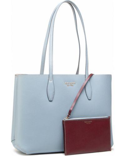 Niebieska klasyczna torebka Kate Spade