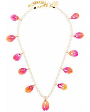 Розовое ожерелье с жемчугом Venessa Arizaga