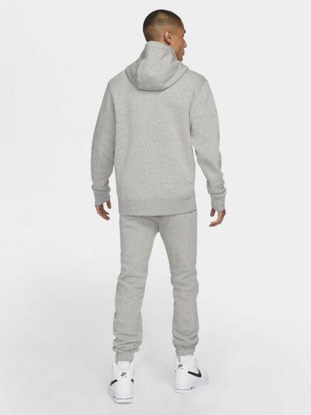 Свободный серый теплый спортивный костюм Nike