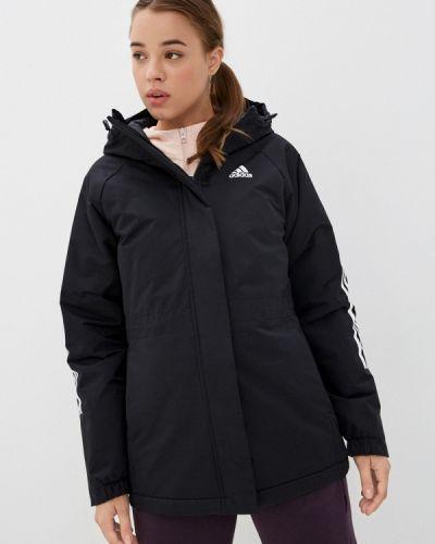 Утепленная черная куртка Adidas