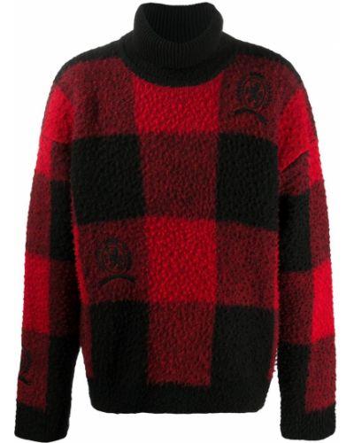 С рукавами красный шерстяной джемпер с вышивкой Hilfiger Collection