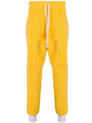 Хлопковые спортивные брюки - желтые Casablanca