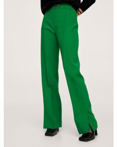 Zielone spodnie materiałowe Mango