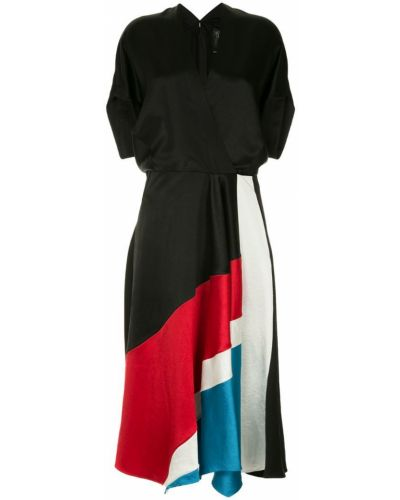 Платье мини с V-образным вырезом приталенное Zero + Maria Cornejo