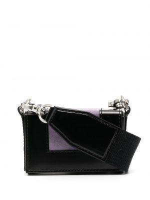 Czarna torebka mini skórzana Ami Paris