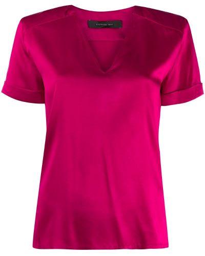 Блузка с коротким рукавом розовая с манжетами Federica Tosi