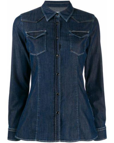Джинсовая рубашка на кнопках с карманами Dondup
