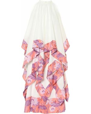 Летнее платье макси из штапеля Loewe