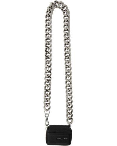 Кожаный серебряный кошелек с тиснением с карманами Kara