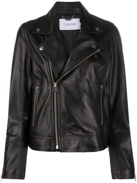 Прямая черная куртка с нашивками с подкладкой Calvin Klein