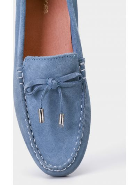 Синие замшевые мокасины с бантом Filipe Shoes