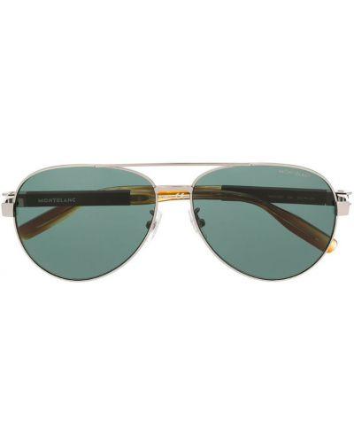 Очки авиаторы солнцезащитные коричневый Montblanc