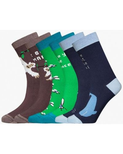 Носки набор коричневый Bb Socks