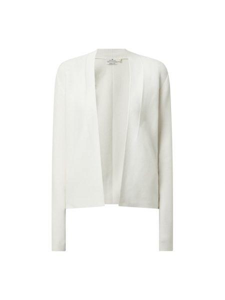Biały kardigan bez zapięcia bawełniany Tom Tailor
