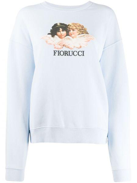 Niebieska bluza z długimi rękawami bawełniana Fiorucci