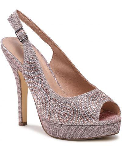 Różowe sandały eleganckie Menbur