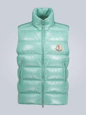 Зеленая пуховая жилетка с карманами Moncler Genius