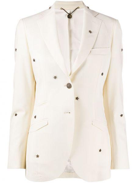 С рукавами сатиновый пиджак с карманами с лацканами Maurizio Miri
