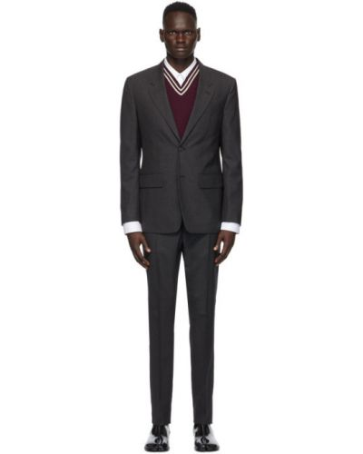 Шерстяной брючный белый брючный костюм Maison Margiela