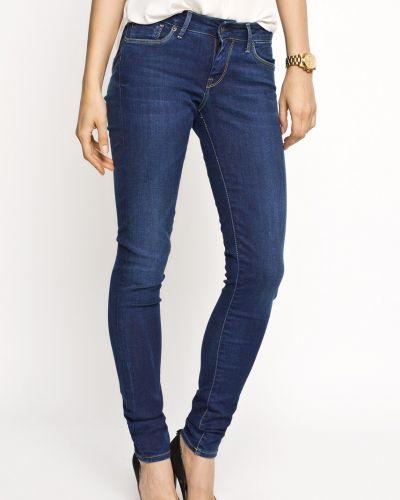 Джинсы-скинни с нашивками Pepe Jeans