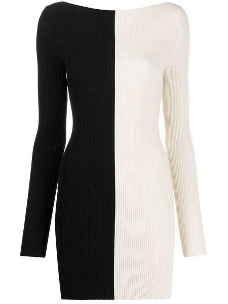 Белое приталенное платье с вырезом из вискозы Ssheena
