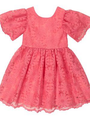 Кружевное розовое платье на шнурках Tartine Et Chocolat