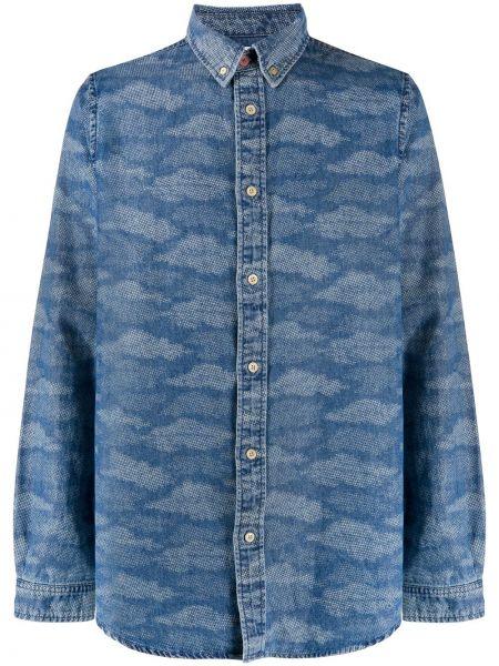 Koszula z długim rękawem dżinsowa długa Ps Paul Smith