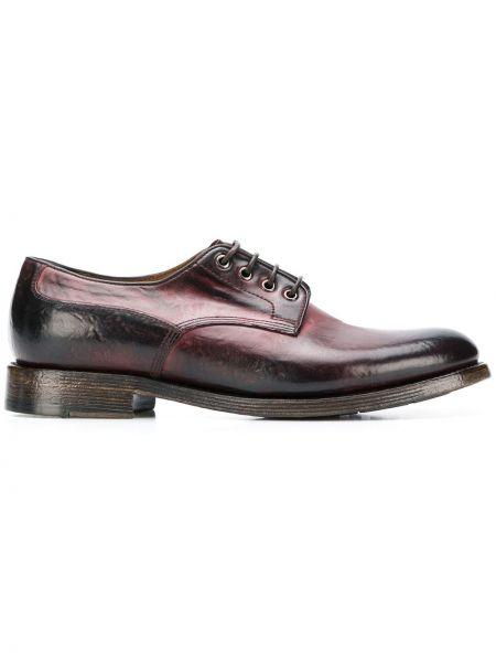 Бордовые кожаные туфли на шнурках Silvano Sassetti