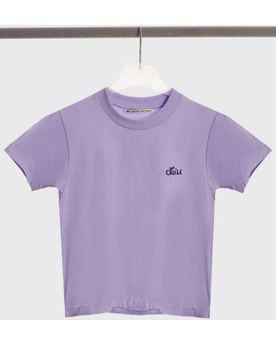 Хлопковая футболка - сиреневая être Cécile