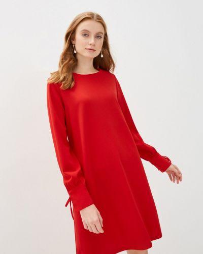 Красное прямое платье Sela