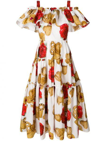 Летнее платье макси через плечо Dolce & Gabbana