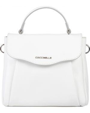 Кожаная сумка - белая Coccinelle