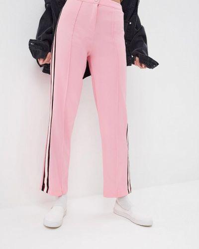 Розовые брюки прямые Topshop
