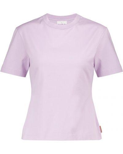 Облегающая фиолетовая хлопковая классическая рубашка Acne Studios