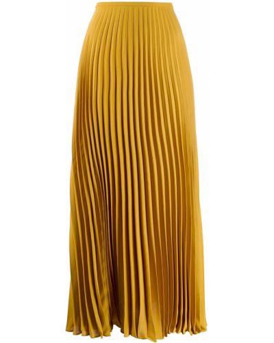Желтая юбка макси на резинке Noon By Noor