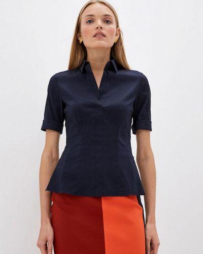 С рукавами синяя блузка Boss