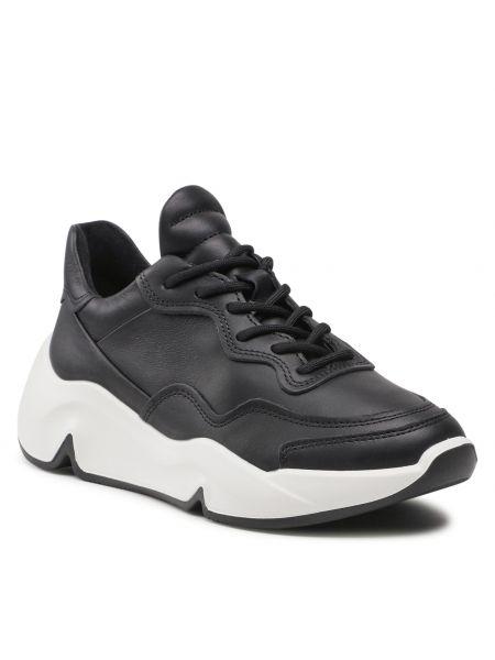 Buty sportowe skorzane - czarne Ecco