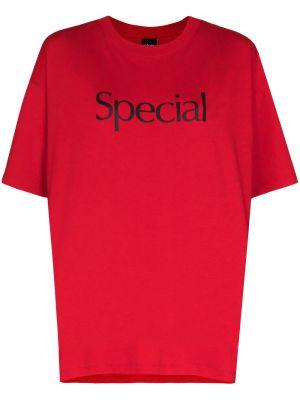 T-shirt bawełniany krótki rękaw z printem More Joy