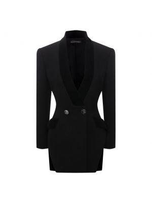 Шерстяной пиджак - черный David Koma
