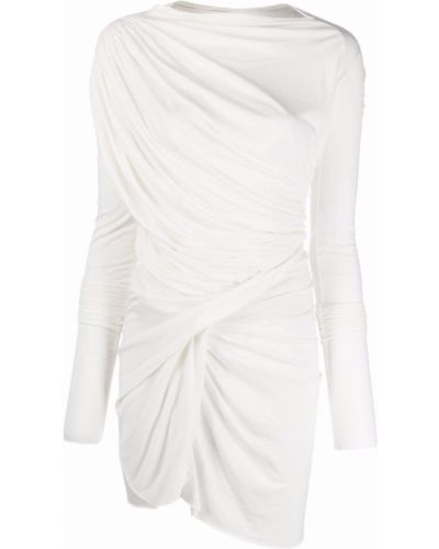 Белое платье миди с вырезом квадратное Rick Owens Lilies